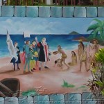Tainos meeting Spanish settlers