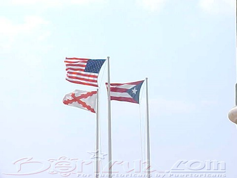 Flags fly high over el Morro