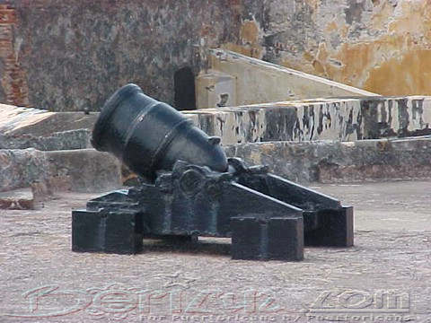 Cannon used in el Morro defence