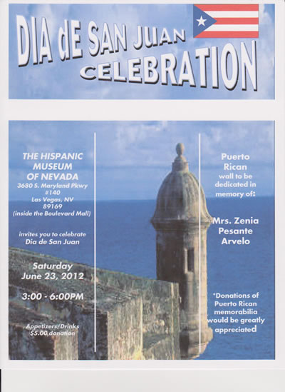 1st Annual Dia de San Juan Festival