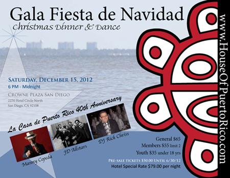 Casa Puerto Rico San Diego Gala Fiesta de Navidad