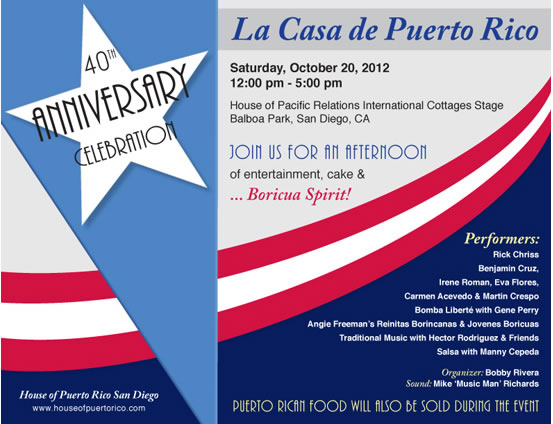 La Case de Puerto Rico San Diego 40th Anniversary Celebration
