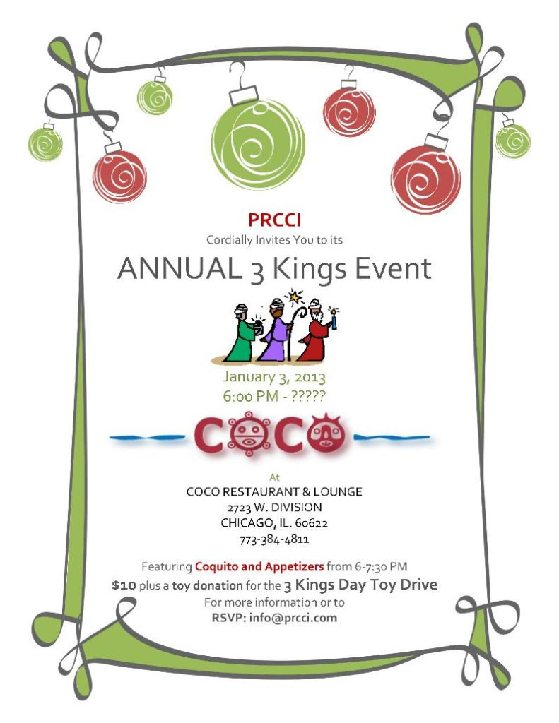 PRCCI Annual Three Kings Event