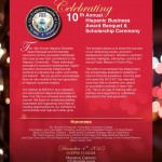 10th Annual Hispanic Business award banquet and scholarship ceremony