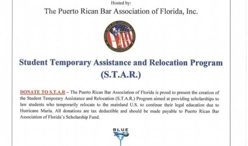 Puerto Rico Law Student Hurricane Relief Fundraiser