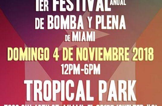 1er anual festival de bomba y plena de miami
