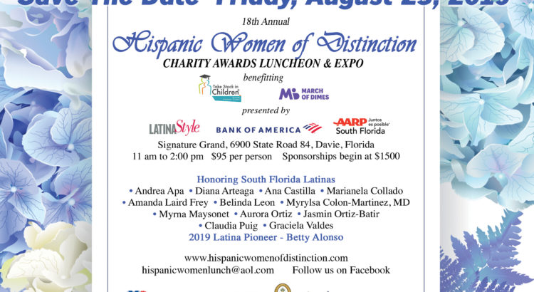 2019 Hispanic Women of Distinction