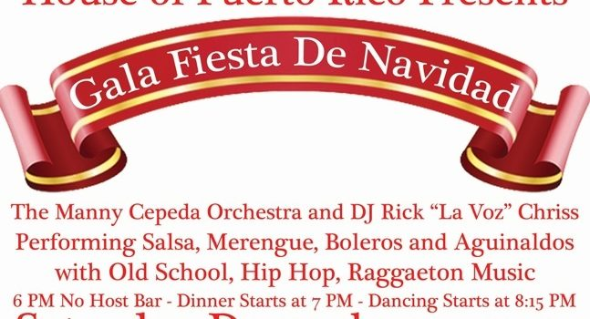 House of Puerto Rico San Diego presents Gala Fiesta Navidena
