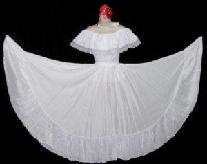 Circular Bright White Dance Skirt