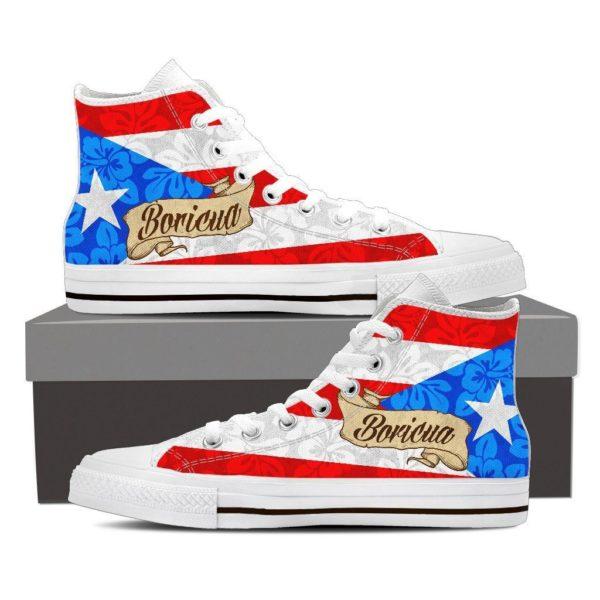 Hibiscus High Cut Sneakers