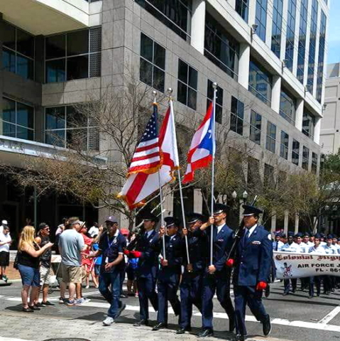 Florida Puerto Rican Parade Honor Guard