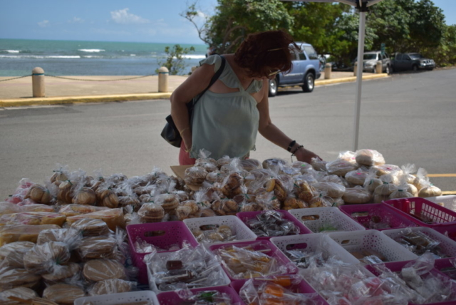 local vendor selling Dulces Tipicos