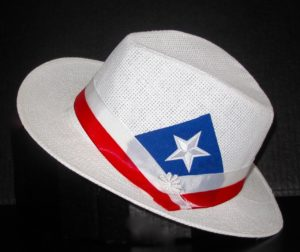 Plenero hat with Puerto Rico flag patch for men