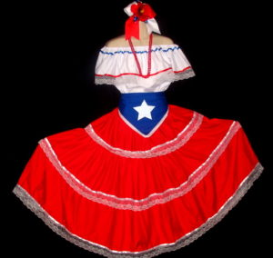 Puerto Rico Flag Apron Dress