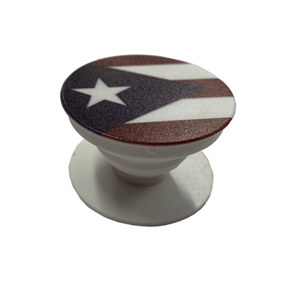 Puerto Rico Flag White Socket