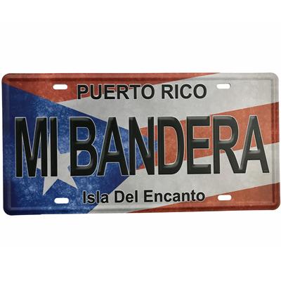 Puerto Rico Flag mi Bandera License Plate