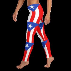 Puerto Rico Flag pattern Leggings