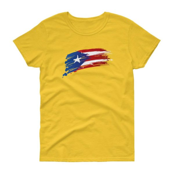 Womens Puerto Rico Flag short sleeve tshirt