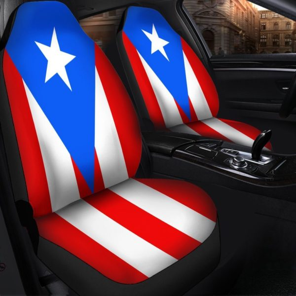 Puerto Rican Flag Seat Covers