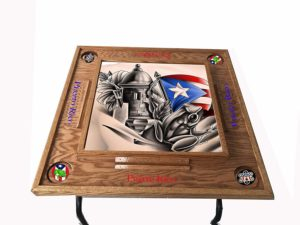 Puerto Rico Domino Table Simbolos Boricua