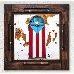 Wooden Domino Table Top Puerto Rico Hijos de Borinquen