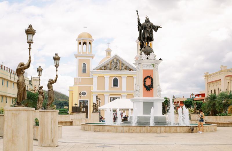 Plaza Colon Mayaguez Puerto Rico